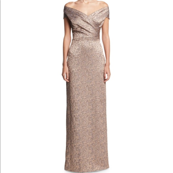 aef133f9f2f Rickie Freeman for Teri Jon Off-the-Shoulder Gown